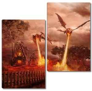 два красных драконов