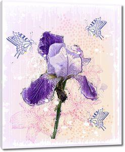 Гранж Иллюстрация диафрагмы цветок