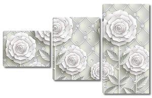 Бумажные цветы на коже