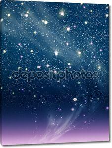 Фиолетовый ночь луна