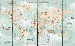 Мировая карта с аэропланами