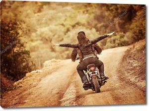 Ощущение полета на мотоцикле