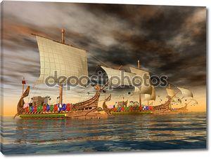 римские военные корабли