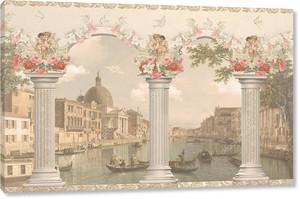 Вид Венеции против столбцы