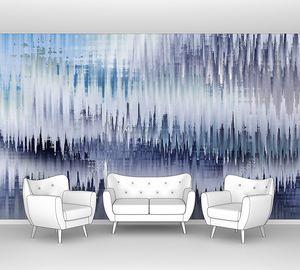 Абстрактная синяя и серая волнистая текстура