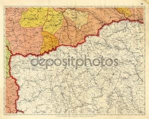 Старая карта Польши