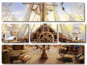 Штурвал пиратского корабля