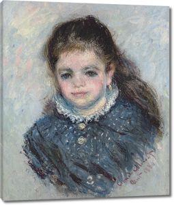Моне Клод. Портрет Жанны Серво, 1880