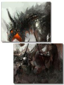 Охота рыцарей на дракона