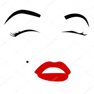Глаза и губы Монро
