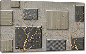 Облетающие деревья с квадратами