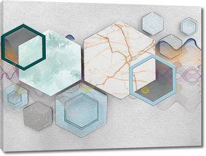 Шестиугольники из мрамора
