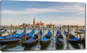 Городской пейзаж Венеция, водные каналы