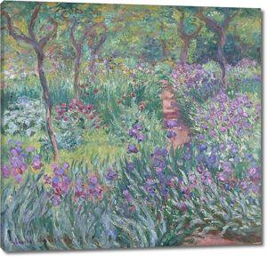 Моне Клод. В саду ирисов в Живерни, 1899-1900