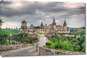 Kamianets-Podilskyi Castle. HDR image. Ukraine