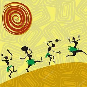 Бегущие папуасы