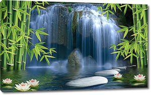 Белые камни у водопада