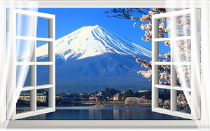 Вид из окна на Фудзияму