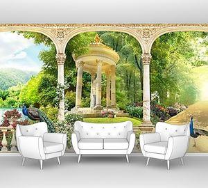 Панорама с видом на живописный парк