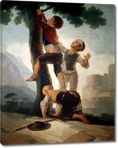 Гойя и Лусиентес Франсиско де. Взбирание на дерево