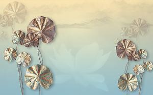 Листья водных лилий
