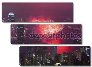 Гонконг фейерверк в китайский Новый год