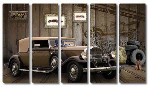 Ретро машина в гараже