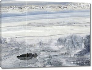 Картина по серому мрамору