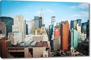Манхэттен Нью-Йорк Сити горизонт вид с Chrysler здания