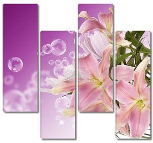 Японский lily.floral фон