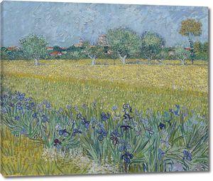Ван Гог. Вид Арля с ирисами