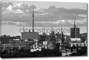 черно-белые башни Москвы