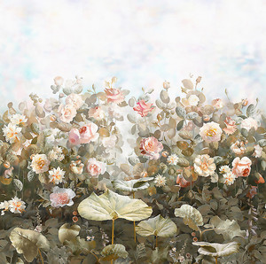 Садовые розы в бежевой гамме