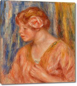 Ренуар. Молодая женщина с розой