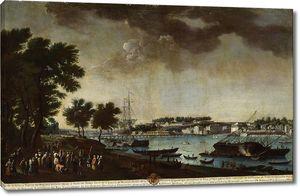 Хуан Патрисио Морлете Руис. Вид города и порта Байонны с тропинок Буффлеров