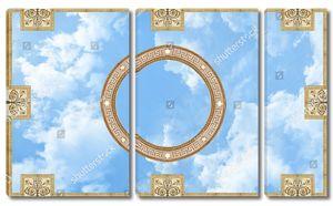 Небо с узорами в виде круга и 8-ми прямоугольников