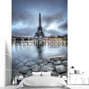 Вид на Париж ночью - Франция