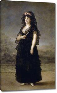 Эстеве и Маркес Агустин. Мария Луиза де Бурбон-Парма, королева Испании, в мантилье (копия Франсиско Гойи)
