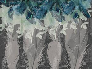 Узор из разных перьев