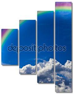 Вертикальные пасмурное небо