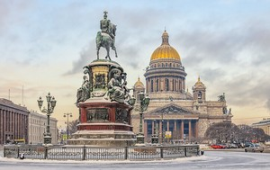 Исаакиевская площадь зимой