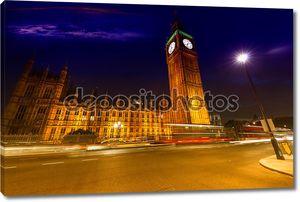 Вестминстерский дворец и Биг Бен ночью