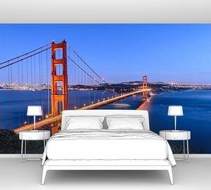 Мост Золотые ворота в ночное время