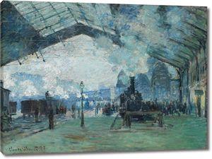 Клод Моне. Прибытие в Нормандии поезд, вокзал Сен-Лазар