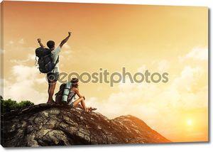 Туристы на вершине