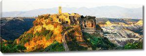 Средневековый город в  Италии