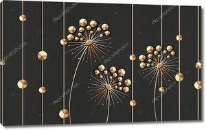 Абстрактные звездообразные цветы