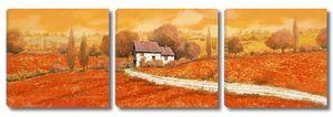 Дом в оранжевом поле