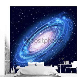 Красивые светящейся галактики Андромеды вектор