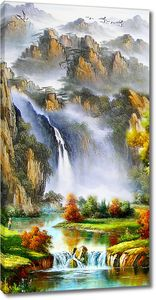 Водопад в долине